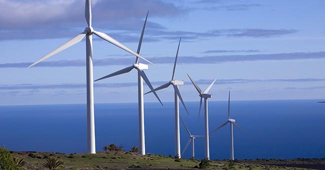 Crescita di energia eolica